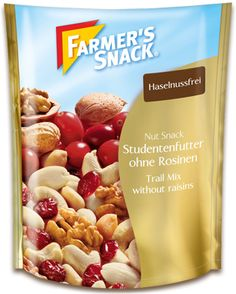 Packung Farmer's Snack Studentenfutter ohne Rosinen .klein.#Kleinerenergieschub lecker,knackig ohne Rosinen. Perfekter Snack