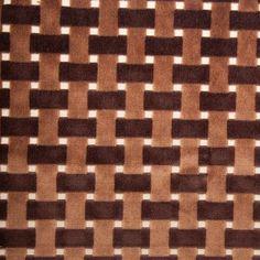 Chocolate Lattice Work Cut Velvet Home Decor Fabric