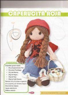 PATRONES GRATIS DE CROCHET: CAPERUCITA ROJA amigurumi a crochet... Patrón gratis