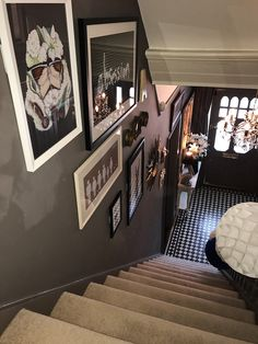 An Edwardian Home With A Dose Of Cool - Real Home Tour of Claire Botha - The Interior Editor Edwardian Hallway, Edwardian House, Victorian Townhouse, 1930s House, Victorian Terrace, Black Hallway, Tiled Hallway, Hallway Flooring, Narrow Hallway Decorating