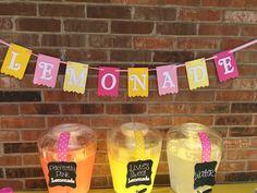 "Pink Lemonade ""Lemonade"" Birthday Party Pennant Banner by sweetheartpartyshop on Etsy https://www.etsy.com/listing/242000670/pink-lemonade-lemonade-birthday-party"
