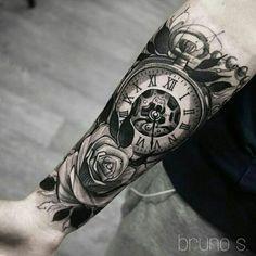 Pocket watch tattoos, clock tattoos, clock tattoo sleeve, chicano t