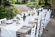 Farm table and chair rentals  www.finderskeepersrentals.com