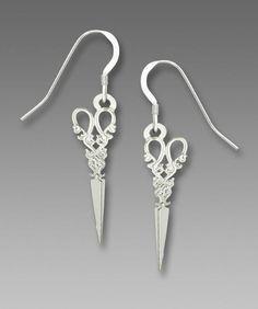 2e8765235 Sienna Sky Antique Scissors EARRINGS Sterling Silver Earwires Sewing Gift  Boxed #SiennaSky #DropDangle Sterling