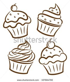 Illustration about Cupcake doodle isolated on white background. Illustration of collection, clipart, doodle - 29838569 Cupcake Illustration, Art Et Illustration, Cupcake Kunst, Cupcake Art, Cupcake Vector, Photo Cupcake, Cupcake Tattoos, Cupcake Tattoo Designs, Cupcake Drawing