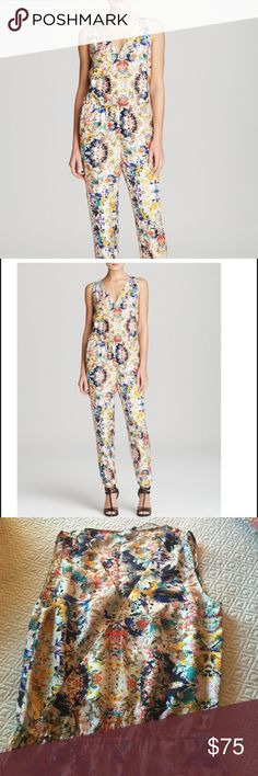 Rebecca Minkoff Jumpsuit NWOT! Reposhing only because this doesn't fit, beautiful silk fabric and pattern, size 6. Sold out at Bloomingdales for $268!!!! Rebecca Minkoff Other