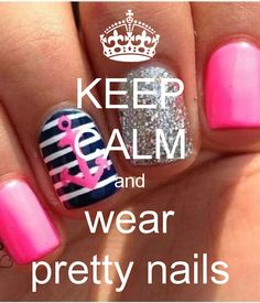 Keep Calm and wear pretty nails