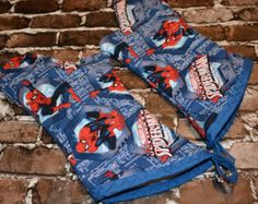 Spiderman Oven Mitt- Set by deezignz. Explore more products on http://deezignz.etsy.com