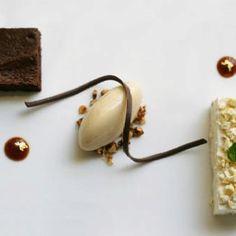 JuJu's Flourless, banana mousse and barley ice cream