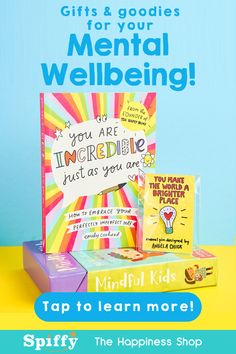 Practical self-care gifts to help you through your wellbeing journey, one step at a time! 🌈 We are Spiffy and we're here to lend a helping hand when the going gets tough.💖 With a massive range of gifts, books and goodies for people of all ages, we're all about offering you self-help that ACTUALLY helps. ⛅️ Find your positivity today. ✨ Finding Joy, Finding Yourself, Self Care Activities, Positive Motivation, True Happiness, Daily Inspiration Quotes, Self Help, Encouragement, Goodies