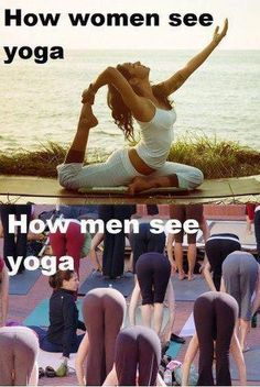 DownDog Funnies: How men & women see yoga differently…  From the Downdog Diary Yoga Blog found exclusively at DownDog Boutique. DownDog Diary brings together yoga stories from around the web on Yoga Lifestyle... Read more at DownDog Diary