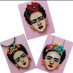 Loom Beading, Beading Patterns, Friday Kahlo, Peyote Stitch, Brick Stitch, Bead Weaving, Pixel Art, Seed Beads, Crafty
