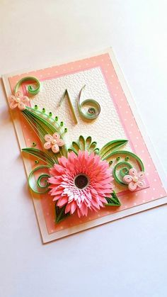 Sweet Sixteen Card Daughter Birthday Card Best Friend by Gericards