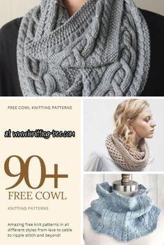 free cowl knitting patterns www.knitting-bee.com