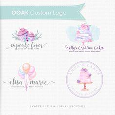 Custom Logo Design - OOAK Logo Design - Watercolor Logo Design - Hand Drawn Logo - Bakery Logo - Baby Logo - Children Logo