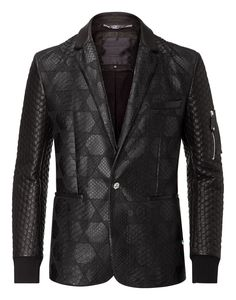 PHILIPP PLEIN LEATHER BLAZER