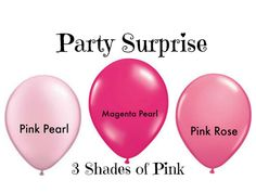 Pink Balloons 3 Shades of Pink Girl Party Baby by PartySurprise