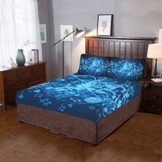 Items similar to Artistic mandala bedding set-Assorted duvet cover and 2 pillow cases 30 inches-hand painted- custom- assorted area rug-bedroom decor on Etsy Linen Bedding, Bedding Sets, Boho Bedding, Bed Linen, Luxury Bedding, Shops, Dust Mites, Quilt Cover, Electric Blue