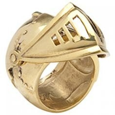 Brass Knight Ring