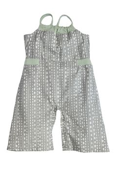Dollie Baby Jumpsuit by Shirley & Victor in Steel Diamond. Please use coupon code NewProducts to receive 15% off these items. To receive the discount, please place your order by midnight Monday, April 27, 2015