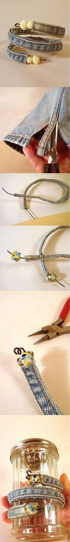 Diy Cool Jean Bracelet | DIY & Crafts