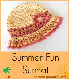 Summer Fun Sun Hat | Free crochet pattern from Pattern Paradise