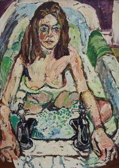 Bratby, John Randall British AR Patti in the Bath, 40 x 32 ins John Bratby, Bath Art, Modern Portraits, English Artists, A Level Art, Art Themes, Portrait Art, Figure Painting, Contemporary Paintings