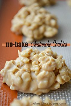 These no-bake Avalanche Cookies are so easy to make! They taste like a peanut butter version of a Nestle Crunch Bar! See it on thebestblogrecipes.com