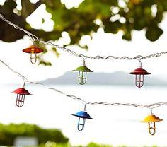 Colored Lantern String Lights | Pottery Barn Kids