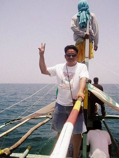 That's me hoping to see my first butanding. The guy behind me is our searcher. Donsol is an hour away from Legazpi City. Boats and the crew can be hired for P2,500 for a whole day (look only for the accredited guides). Gears for interacting with the  Is money stopping you from visiting philippines? Click my pin to find out how you could solve this issue. Visit Philippines, Gears, How To Find Out, Boat, Money, City, Dinghy, Gear Train, Boats