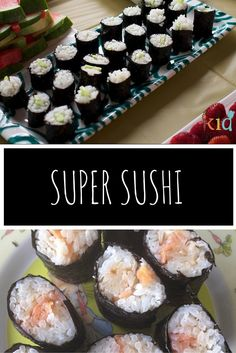 Super sushi- so easy to make, so yummy, follow the video and use our easy recipe ideas! Sushi Maker, Bento Kids, Best Dinner Recipes, Easy Recipes, Perfect Breakfast, Kids Meals, Easy Meals, Healthy Meals, Healthy Recipes