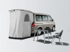 VW California T5 tailgate shower / awning
