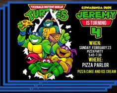 TMNT Birthday Party Invitations