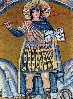 Christ, adorned as an Roman (Byzantine) Emperor, San Vitale, Ravenna, c century. Historical Artifacts, Ancient Artifacts, Early Christian, Christian Art, Medieval, Ancient Rome, Ancient Greece, Ancient Aliens, Early Middle Ages