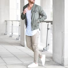 Military bomber jacket and biker pants by @rowanrow [ http://ift.tt/1f8LY65 ]