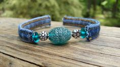 Hey, I found this really awesome Etsy listing at https://www.etsy.com/listing/291258435/denim-wire-wrap-bracelet