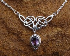 Two of my favorite things...purple, and celtic knots.