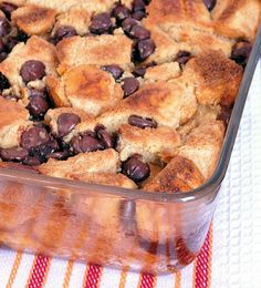 Chocolate Chip French Toast Casserole Print Dig-in High cal Calories...