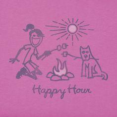 Women's Happy Hour Friends Crusher Tee