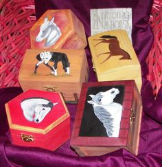 equine painted trinket boxes by kidntyme, via Flickr