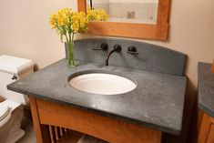 Bathroom Countertop Design for Single Family | drawhome.com