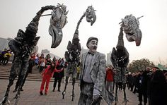 Stilt Costumes on Pinterest | Stilt Costume, Gargoyle Costume and ...