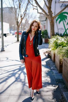 orange jumpsuit fashion in the street susana ares