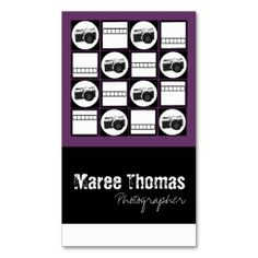 Photographer Business Cards. This is a fully customizable business card and available on several paper types for your needs. You can upload your own image or use the image as is. Just click this template to get started!