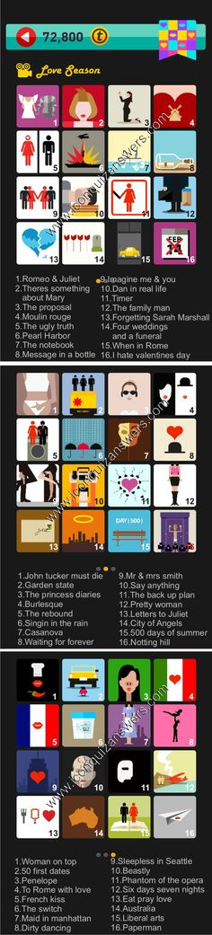 Icon Pop Quiz Love Season complete answers for iPhone, iPad and Android phone