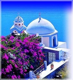 What a place to get married! © • Greek Orthodox Church in Thira - Santorini