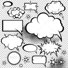 Illustration of Comic bubbles collection. vector art, clipart and stock vectors. Web Design, Vector Design, Vector Art, Pop Art, Comic Bubble, Comic Styles, Free Illustrations, Elementary Art, Funny Design