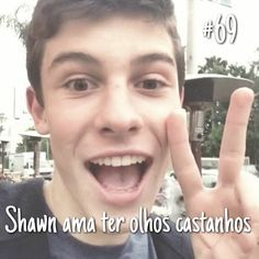 and I love his brown eyes! Shawn Mendes Facts, Magcon, Muffin, Brown Eyes, Cupcake, Facts, Cute Kittens, Wall, Muffins