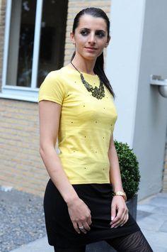 Bestseller// Shirt Crea // yellow // Organic von NBGreenFashion