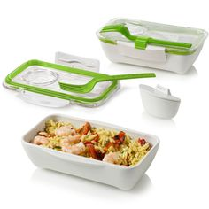 BLACK + BLUM    Part of the updated, upgraded meal containers by Black+Blum, these lightweight holders are made from quality BPA-free plastic, are microwave and dishwasher safe and include sporks and other great features.